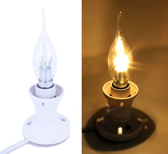 Twisted Glass Candle LED Bulb for Chandeliers