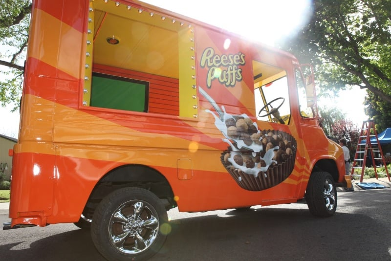 Reeses Puff Food Truck TV Commercial LED Lighting