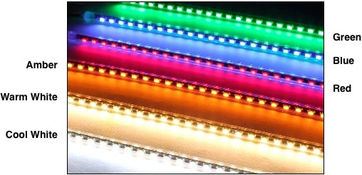 very thin led tube colors